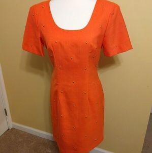 ILGWU vintage rare misty lane dress sz 5/6 *D3